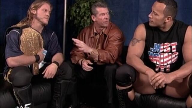 WWF Chris Jericho backstage segment The Rock