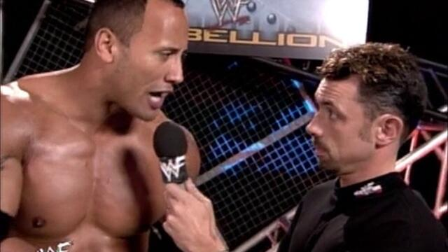 The Rock backstage funny segment