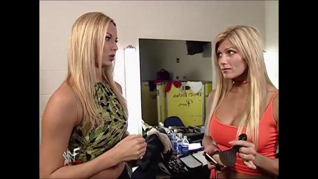 Torrie Wilson and Stacy Keibler Backstage Segment (Raw 24.09.2001)