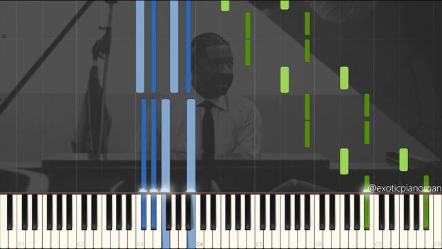 Erroll Garner - Laura 1964 (Solo Jazz Ballad Piano Synthesia) [Transcribed by: Nik Perry]