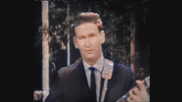 Roy Orbison on TV 1960 Only The Lonely - AI Colorized and Upscaled
