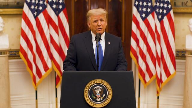 President Donald Trump Delivers Farewell Address