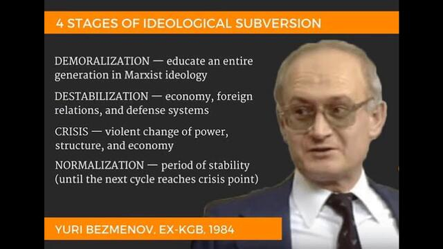 Demoralization- What Yuri Bezmenov Didn't Tell You